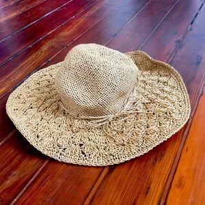 American Eagle wise brim sun beach straw hat
